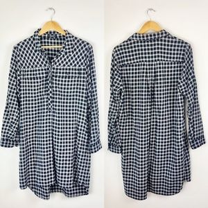 Madewell Flannel Shirt Dress